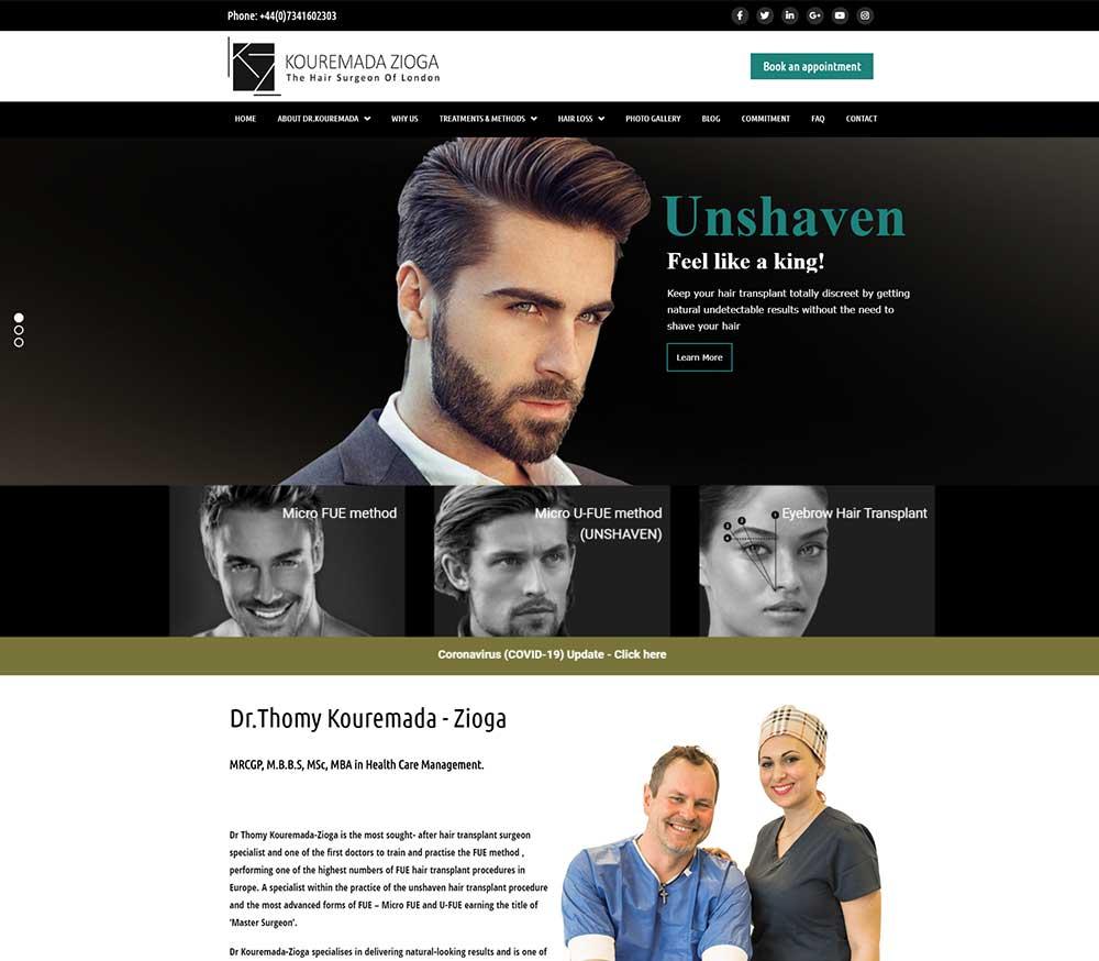 Κατασκευή ιστοσελίδας london hairsurgeon 01
